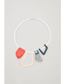 Abstract Shape Leather Necklace by Cos