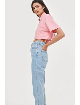 Petite Bleach Mom Jeans by Topshop