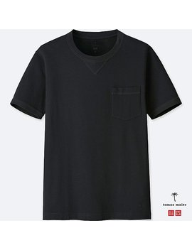 Men Supima® Cotton Short Sleeve T Shirt by Uniqlo