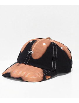 Obey Jumble Bleached Black Strapback Hat by Obey