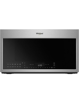1.9 Cu. Ft. Convection Over The Range Microwave With Sensor Cooking   Fingerprint Resistant Stainless Steel by Whirlpool