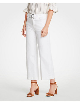 Petite Belted Wide Leg Jeans by Ann Taylor