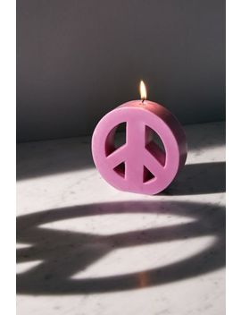 Small Peace Sign Candle by Urban Outfitters