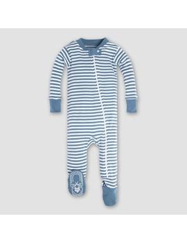 Burt's Bees Baby Boys' Organic Cotton Mini Stripe Sleeper   Blue by Burt's Bees Baby