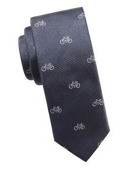 Bicycle Slim Silk Tie by Ben Sherman