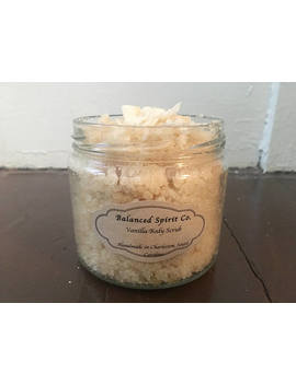 10 Oz. Vanilla Sugar Body Scrub With Argan Oil, Skin Brightening Scrub, Handmade, 100 Percents All Natural by Etsy