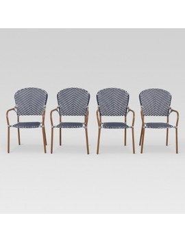 French Café 4pk Wicker Patio Dining Chair   Threshold™ by Shop This Collection