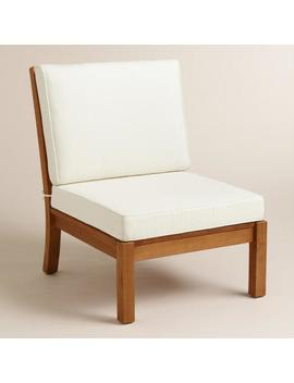 Wood Cayman Armless Sectional Chair by World Market