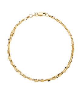 14k Yellow Gold Mirror Link Bracelet by Fine Jewellery