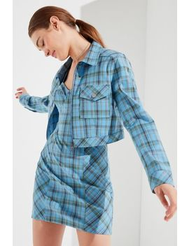 Uo As If Plaid Cropped Jacket by Urban Outfitters