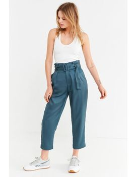 Uo Peony Paperbag Pleated Pant by Urban Outfitters