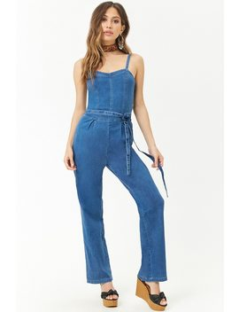 Denim Wide Leg Jumpsuit by Forever 21