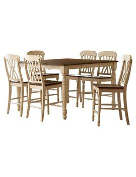 "7 Piece Antique White And Oak Bar Table Set by <A Class=""Bttn Outline Bttn  Cta"" Href=""/B/Furniture Kitchen Dining Room Furniture/Home Sullivan/N 5yc1v Z96r Zc7ou"" Data Target=""N/A"">                 <Span Class=""Bttn  Content"">Home Sullivan</Span>             </A>"