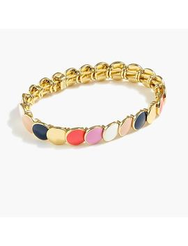 enamel-stretch-bracelet by jcrew
