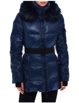 Faux Fur Trim Puffer Coat by S13