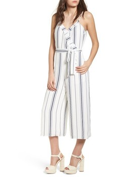 Stripe Crop Jumpsuit by J.O.A.