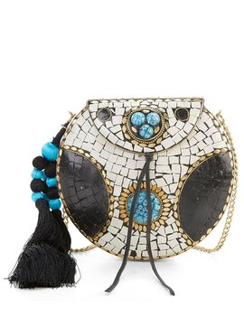 Beatrice Embellished Metal Canteen Cross Body Bag by Sam Edelman