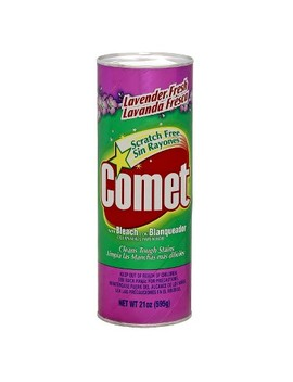Comet With Bleach Disinfectant Cleanser Scratch Free Lavender Fresh 21 Oz by Comet