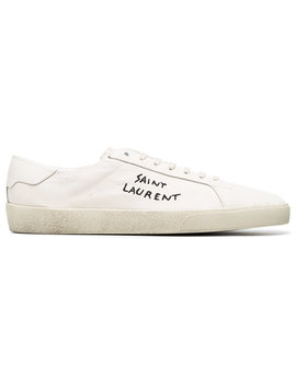 Classic Sl/06 Embroidered Canvas Sneakershome Men Shoes Trainers by Saint Laurent