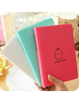 """""""Molang Rabbit"""" Cute 2018 2019 Monthly Weekly Planner Agenda Organizer Faux Leather Diary Journal Study Notebook by Missmangocathy"""
