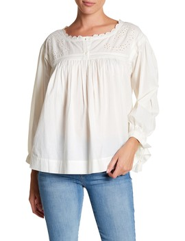 The Peasant Embroidered Blouse by Current/Elliott