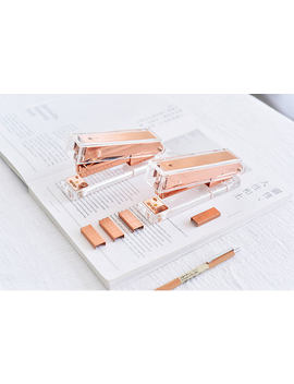 Rose Gold Stapler With Staples |Transparent Brass Stapler|Rose Gold Staples Refill|Clear Acrylic Stapler|Modern Design Office Desk Accessory by Etsy