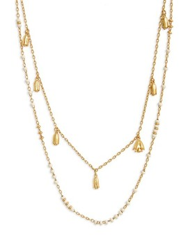 Layered Rosebud Necklace by Madewell