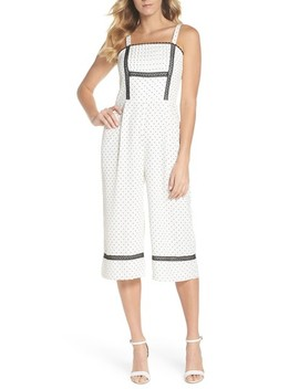 Nadine Polka Dot Culotte Jumpsuit by Adelyn Rae