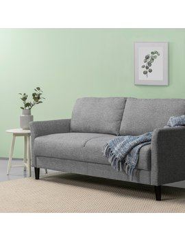 Zinus Classic Upholstered 71in Sofa / Living Room Couch, Soft Grey by Zinus