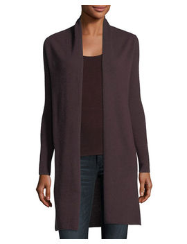 Classic Cashmere Duster Cardigan, Plus Size by Neiman Marcus