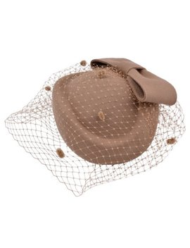 Pillbox Hat, Aniwon Wedding Cocktail Party Hat With Veil Vintage Bow Fascinator Hats For Women Ladies Girls(Camel) by Aniwon