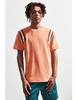 Uo Velour Rib Inset Tee by Urban Outfitters