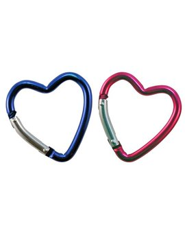 Key Carabiner   Set Of Three Heart Shaped In Pink & Blue by Toysmith
