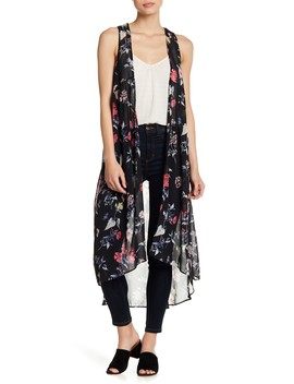 Floral Patterned Woven Vest by David & Young