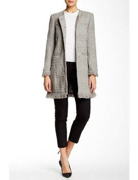 Tweed Fringe Coat by Vertigo