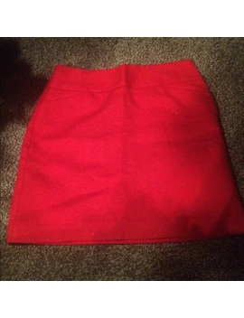 Ann Taylor Loft Red Mini Skirt by Loft