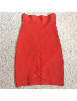 Bebe Red Bandage Skirt by Bebe
