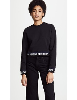 Cropped Sweatshirt With Elastic Logo by Opening Ceremony