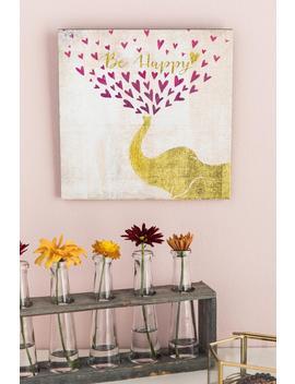 Be Happy Elephant Wood Wall Decor by Francesca's
