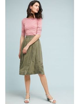 Embroidered Chino Skirt by Maeve
