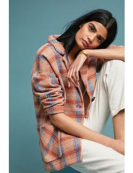 Oversized Plaid Jacket by Anthropologie