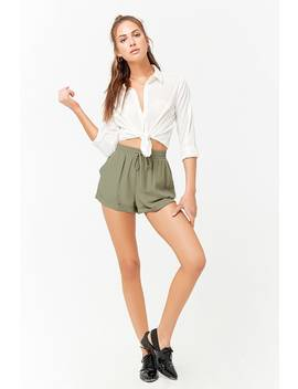 Cuffed Drawstring Shorts by F21 Contemporary
