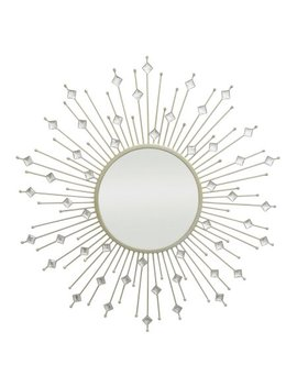 Three Hands Diamond Starburst Jeweled Wall Mirror   29 Diam. In. by Three Hands