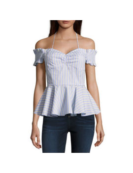 Belle + Sky Smocked Peplum Top by Belle + Sky