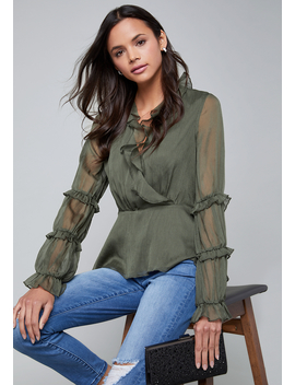 Ruffled Blouse by Bebe