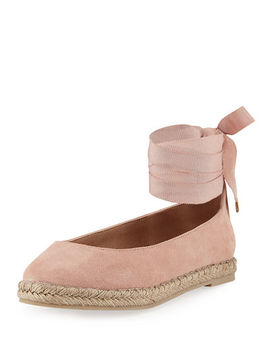 Faithe Ankle Wrap Ballerina Flat by Bettye