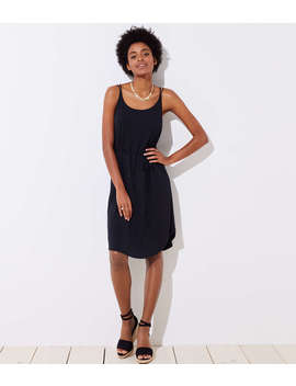 Petite Strappy Tie Waist Cami Dress by Loft