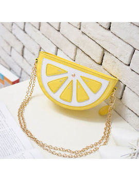 Mini Pu Summer Handbag Purse Cross Body Chain Watermelon Lemon Slice Bag Us Ship by Cxk128