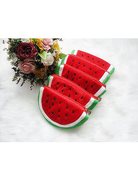 Fashion Women Cute Fruits Plush Mini Coin Purse Zipper Bag Change Purse Handbag by Unbranded