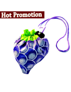 Grape + Pineapple Mixed Sales ! Only Shopping Folding Foldable Bag,Many Colors Fruit Handle Bag+Free Shipping by Manjianghong